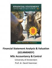 Custom FSAV (6314M0405Y) MSc Accountancy & Control - University of Amsterdam