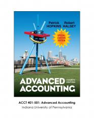 Custom ACCT 401-501 (Indiana University of Pennsylvania)