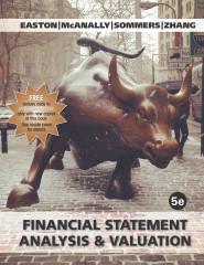 Financial Statement Analysis & Valuation, 5e