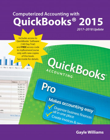 Computerized Accounting with QuickBooks 2015 17-18 Update